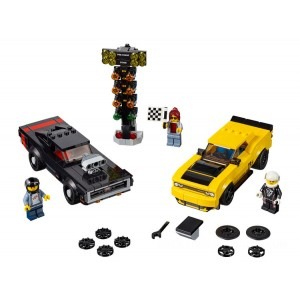 Lego Speed Champions 2018 Dodge Challenger SRT Demon and 1970 Dodge Charger R/T - Sale