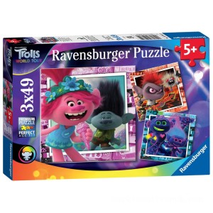 Ravensburger DreamWorks Trolls World Tour 3 In A Box Puzzle - Sale