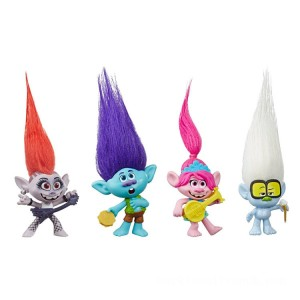 Dreamworks Trolls Work Tour - Small Doll 4 Pack - Sale