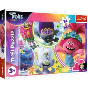 Trefl DreamWorks Trolls World Tour Maxi Puzzle - 24pcs. - Sale