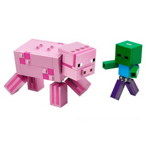 Lego Minecraft™ BigFig Pig with Baby Zombie - Sale