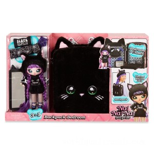Na! Na! Na! Surprise 3-in-1 Backpack Bedroom Black Kitty Playset - Sale