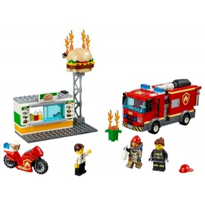Lego City Burger Bar Fire Rescue - Sale