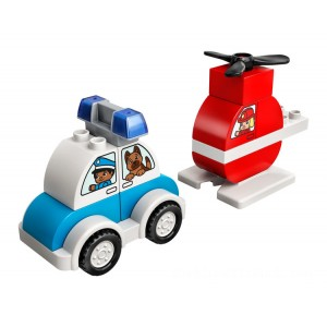 Lego DUPLO® Fire Helicopter & Police Car - Sale
