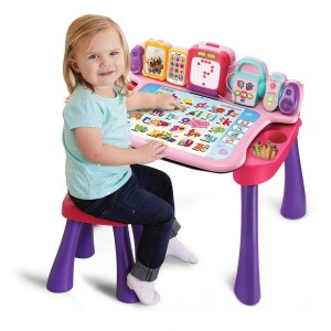 VTech Touch & Learn Activity Desk Pink - Sale