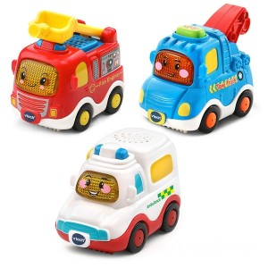 VTech Toot-Toot Drivers 3 Pack Emergency Vehicles - Sale