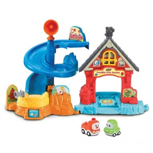 Vtech Toot-Toot Cory Carson Freddies Firehouse Playset - Sale