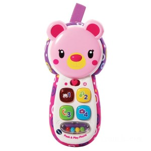 VTech Peek & Play Phone Pink - Sale