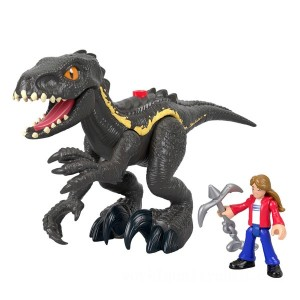 Imaginext Jurassic World Indoraptor and Maisie - Sale