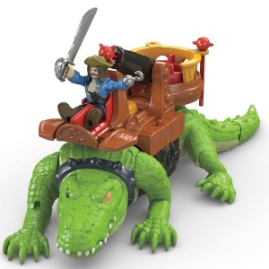 Imaginext Pirates Walking Croc and Pirate Hook Kid's Toy - Sale