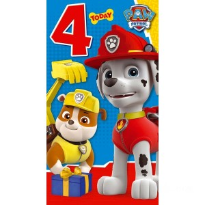 PAW Patrol Age 4 Birthday Card Assortment - Sale
