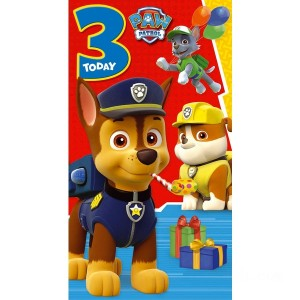 PAW Patrol Age 3 Birthday Card Assortment - Sale