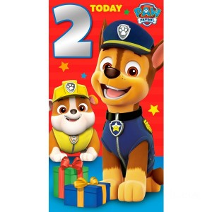 PAW Patrol Age 2 Birthday Card Assortment - Sale
