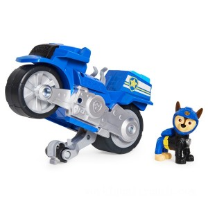 PAW Patrol Moto Pups Chase's Deluxe Pull Back Motorcycle Vehicle - Sale