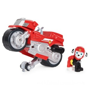 PAW Patrol Moto Pups Marshall's Deluxe Pull Back Motorcycle Vehicle - Sale