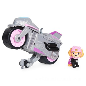 PAW Patrol Moto Pups Skye's Deluxe Pull Back Motorcycle Vehicle - Sale
