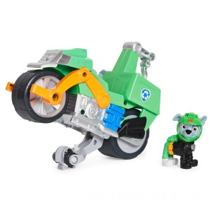 PAW Patrol Moto Pups Rocky's Deluxe Pull Back Motorcycle Vehicle - Sale