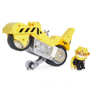 PAW Patrol Moto Pups Rubble's Deluxe Pull Back Motorcycle Vehicle - Sale