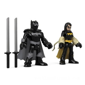 Fisher-Price Imaginext DC Super Friends Black Bat and Ninja Batman - Sale