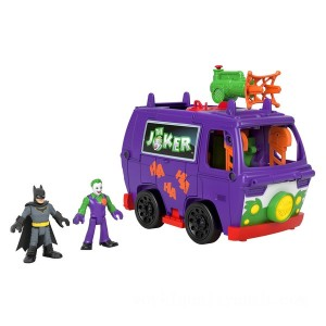 Imaginext DC Super Friends: Joker Van Headquarters with Batman and Joker Figures - Sale