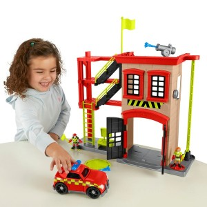 Imaginext Rescue City Fire Station Playset and Vehicle Set - Sale