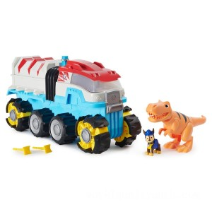 PAW Patrol Dino Rescue Dino Patroller Motorised Team Vehicle with Chase & T-Rex - Sale