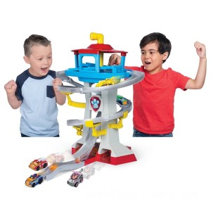 PAW Patrol True Metal Adventure Bay Rescue Playset with 2 Exclusive Mini Vehicles - Sale