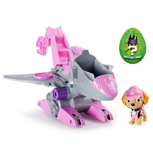 PAW Patrol Dino Rescue Skye's Deluxe Rev Up Vehicle with Mystery Dinosaur Figure - Sale