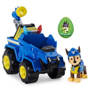 PAW Patrol Dino Rescue Chase's Deluxe Rev Up Vehicle with Mystery Dinosaur Figure - Sale