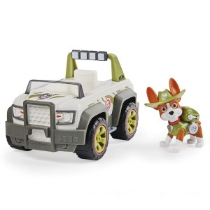 PAW Patrol Tracker's Jungle Cruiser Vehicle with Collectible Figure - Sale