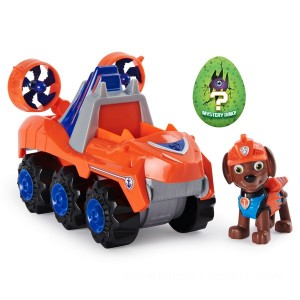 PAW Patrol Dino Rescue Zuma's Deluxe Rev Up Vehicle with Mystery Dinosaur Figure - Sale