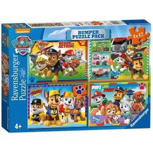 Ravensburger PAW Patrol Bumper Puzzle Pack, 4 x 42 Piece Puzzle Assortment - Sale