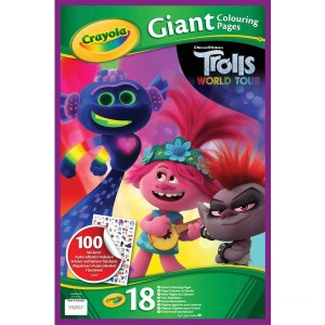 Crayola Trolls 2 Giant Colouring Pages - Sale