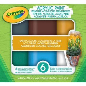 Crayola Acrylic Paint Earth Colours - Sale