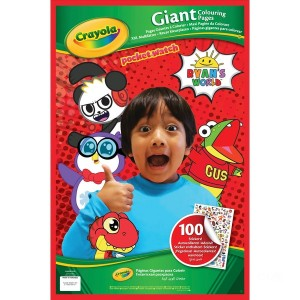 Ryan's World Giant Colouring Pages - Sale