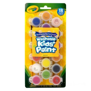Crayola 18 Washable Kids Paint - Sale