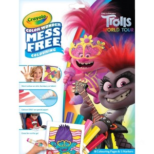 Crayola Trolls 2 Colour Wonder - Sale
