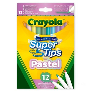 Crayola 12 Pack SuperTips Pastel Edition - Sale