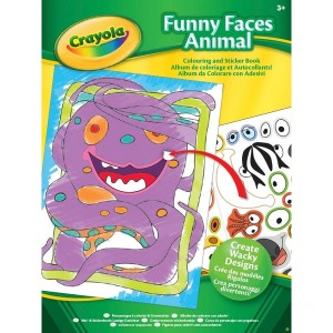 Crayola Funny Faces Sticker Book - Assortment - Sale