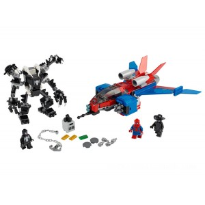 Lego Marvel Spiderjet vs. Venom Mech - Sale